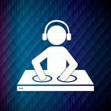 Het ontwerp van DJ Stock Afbeelding