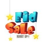 Het ontwerp van Eid Sale Poster, van de Banner of van de Vlieger Stock Foto's