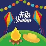 Het ontwerp van Festajunina vector illustratie