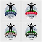 Het ontwerp van het golfclubembleem vector illustratie