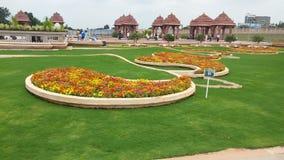 Het ontwerp van het graslandschap van tempel Royalty-vrije Stock Foto