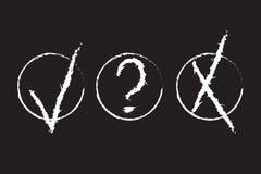 Het Ontwerp van Grunge van goedkeuringstekens vector illustratie