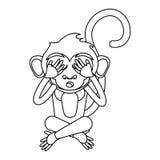 Het ontwerp van het aapbeeldverhaal stock illustratie