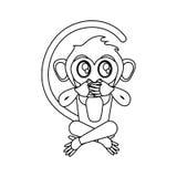 Het ontwerp van het aapbeeldverhaal vector illustratie