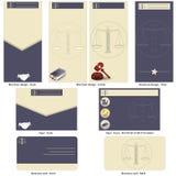 Het ontwerp van het advocaatmalplaatje Stock Foto's