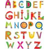 Het ontwerp van het alfabet royalty-vrije illustratie