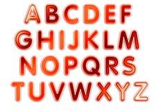 Het ontwerp van het alfabet Stock Afbeelding