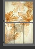 Het Ontwerp van het brochuremalplaatje Stock Foto's