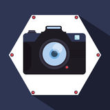 Het ontwerp van het cameramateriaal Stock Fotografie