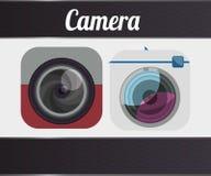 Het ontwerp van het cameramateriaal Stock Afbeelding