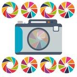 Het ontwerp van het cameramateriaal Royalty-vrije Stock Fotografie