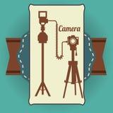 Het ontwerp van het cameramateriaal Stock Foto