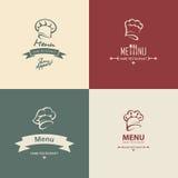 Het ontwerp van het chef-kokmenu Stock Foto