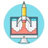 Het ontwerp van het conceptenweb Royalty-vrije Illustratie