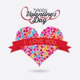 Het Ontwerp van het de bellenhert van de valentijnskaartendag Stock Foto's
