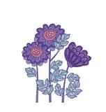 Het ontwerp van het de kaartmalplaatje van de chrysantenbloem Royalty-vrije Stock Afbeelding