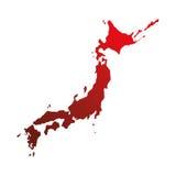 Het ontwerp van het de kaartpictogram van het land van Japan royalty-vrije illustratie