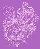 Het ontwerp van het de krabbelHart van de henna Royalty-vrije Stock Fotografie