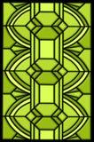 Het ontwerp van het de vlekglas van het art deco royalty-vrije illustratie