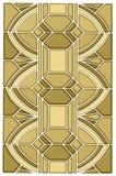 Het ontwerp van het de vlekglas van het art deco Stock Afbeelding
