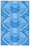 Het ontwerp van het de vlekglas van het art deco Stock Fotografie