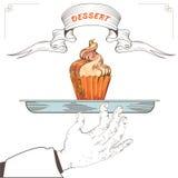 Het ontwerp van het dessertmenu Cupcaket Royalty-vrije Stock Afbeeldingen