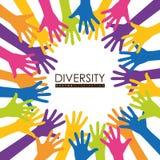 Het ontwerp van het diversiteitspictogram stock illustratie