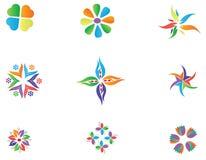 Het ontwerp van het embleem elemets Stock Afbeelding