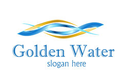 Het Ontwerp van het Embleem van de verwerking van het water Stock Foto