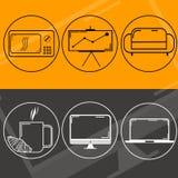 Het ontwerp van het embleemweb stock illustratie