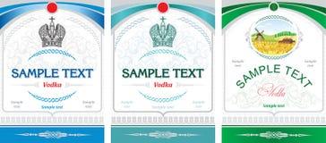 Het ontwerp van het etiket - wodka Stock Afbeeldingen