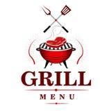 Het Ontwerp van het grillmenu Stock Foto