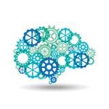 Het ontwerp van het hersenenonweer Stock Foto