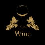 Het ontwerp van het het conceptenmenu van het wijnglas Royalty-vrije Stock Afbeeldingen