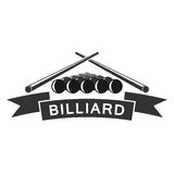 Het ontwerp van het het embleemmalplaatje van de biljartclub Royalty-vrije Stock Foto's