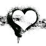 Het ontwerp van het het hartsymbool van Grunge Stock Foto's