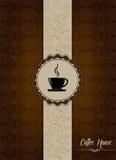 Het ontwerp van het het huismenu van Coffe Royalty-vrije Stock Afbeelding