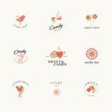 Het ontwerp van het het merkteken van de suikergoedbar Stock Fotografie