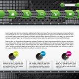 Het ontwerp van het het Webmalplaatje van de technologie met gadgets Stock Foto