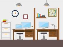Het ontwerp van het het werkbureau royalty-vrije illustratie
