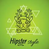 Het ontwerp van het Hipsterkarakter stock illustratie