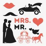 Het ontwerp van het huwelijk Stock Afbeeldingen