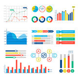 Het ontwerp van het Infographicweb brengt vectorelementen in kaart stock illustratie