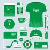 Het ontwerp van het kantoorbehoeftenmalplaatje Stock Afbeeldingen