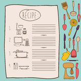 Het ontwerp van het kokboek Stock Afbeelding
