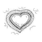 Het ontwerp van het liefdehart vector illustratie