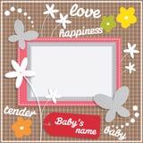 Het ontwerp van het malplaatjekader voor baby Stock Afbeeldingen