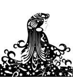 Het ontwerp van het meisje royalty-vrije illustratie