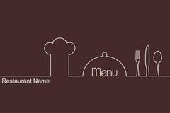 Het ontwerp van het menu Royalty-vrije Stock Fotografie