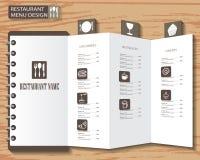 Het ontwerp van het menu Royalty-vrije Stock Foto